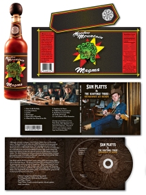 Hot Sauce Bottle lable and CD Jacket product packaging designs