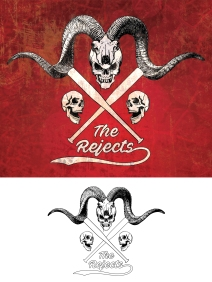 The Rejects retro sticker design